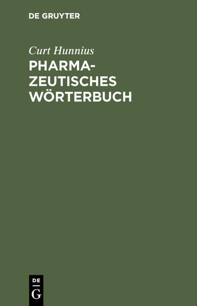 Pharmazeutisches Wörterbuch - Coverbild