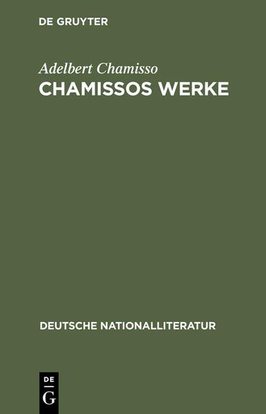 Chamissos Werke - Coverbild
