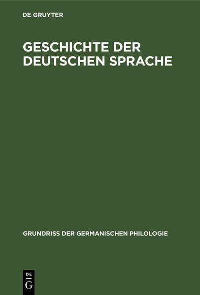 Geschichte der deutschen Sprache - Coverbild