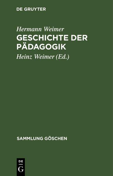 Geschichte der Pädagogik - Coverbild