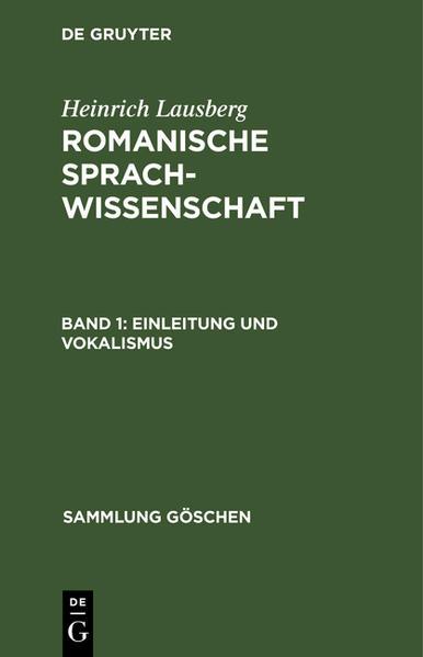 Einleitung und Vokalismus - Coverbild