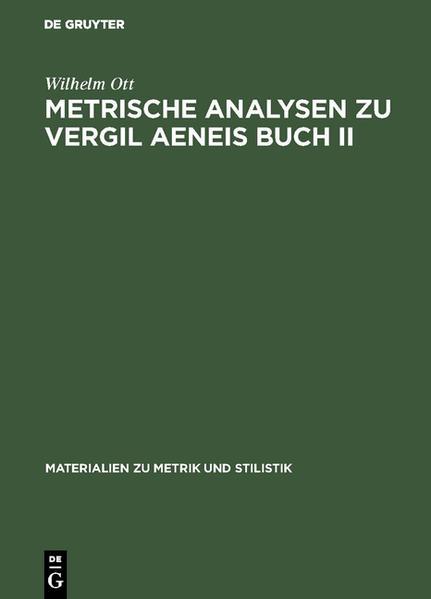 Metrische Analysen zu Vergil Aeneis Buch II - Coverbild
