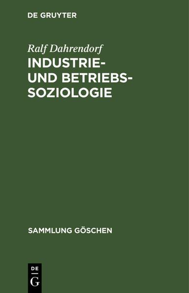 Industrie- und Betriebssoziologie - Coverbild