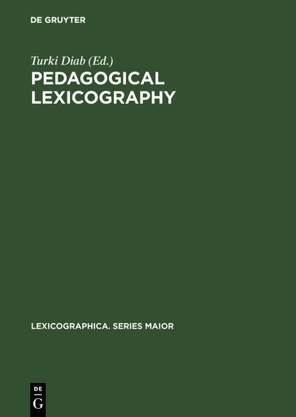 Pedagogical lexicography - Coverbild