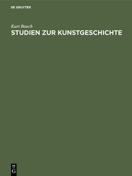 Studien zur Kunstgeschichte - Coverbild