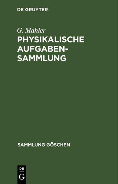 Physikalische Aufgabensammlung - Coverbild