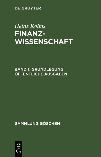 Grundlegung, öffentliche Ausgaben - Coverbild
