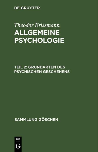Grundarten des psychischen Geschehens - Coverbild