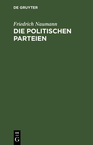 Die politischen Parteien - Coverbild