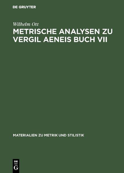 Metrische Analysen zu Vergil Aeneis Buch VII - Coverbild