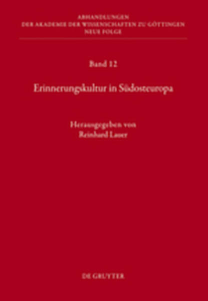Erinnerungskultur in Südosteuropa - Coverbild