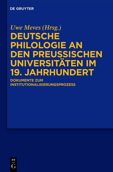 Deutsche Philologie an den preußischen Universitäten im 19. Jahrhundert - Coverbild