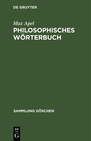 Philosophisches Wörterbuch - Coverbild