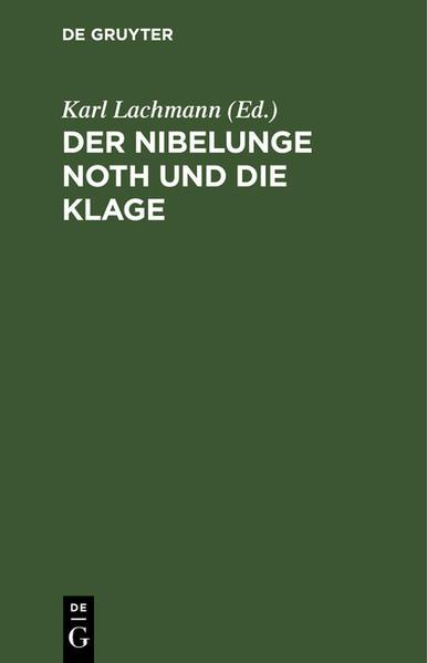Der Nibelunge Noth und die Klage - Coverbild
