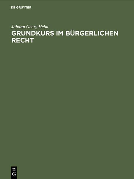 Grundkurs im Bürgerlichen Recht - Coverbild