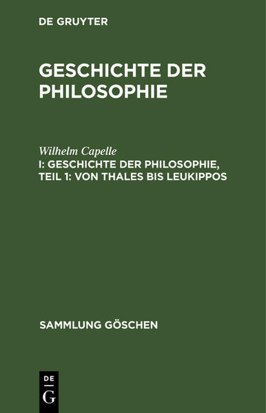 Von Thales bis Leukippos - Coverbild