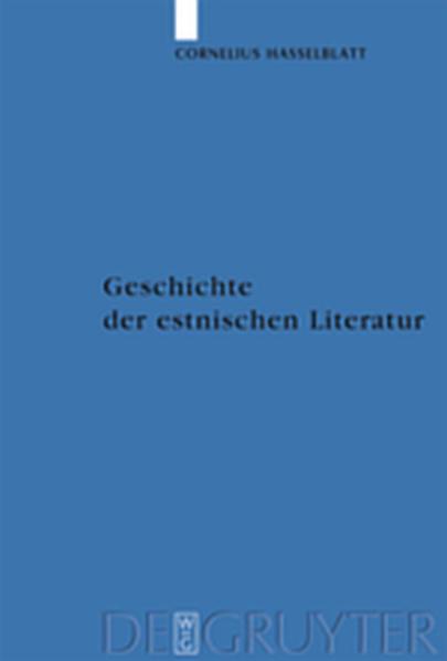 Geschichte der estnischen Literatur - Coverbild