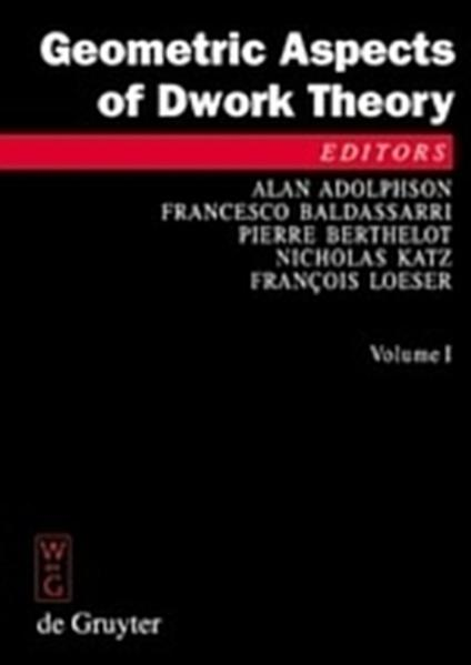 Geometric Aspects of Dwork Theory - Coverbild