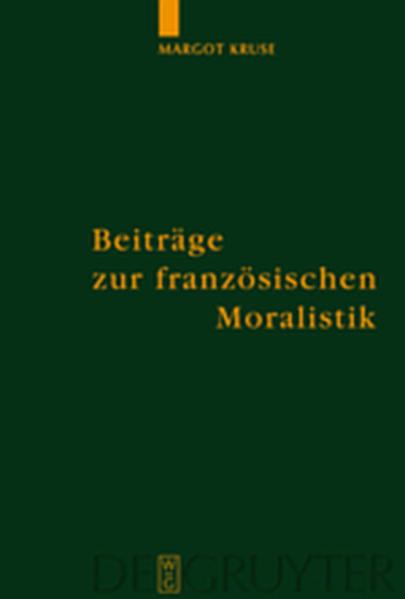 Beiträge zur französischen Moralistik - Coverbild