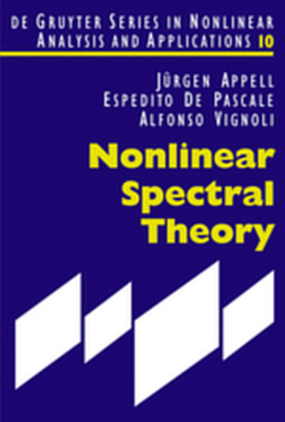 Nonlinear Spectral Theory - Coverbild
