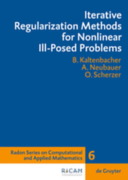 Iterative Regularization Methods for Nonlinear Ill-Posed Problems - Coverbild