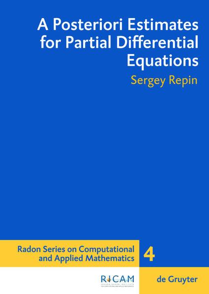 A Posteriori Estimates for Partial Differential Equations - Coverbild