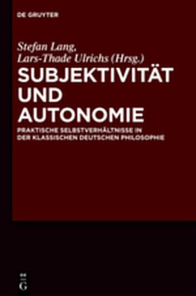 Subjektivität und Autonomie - Coverbild