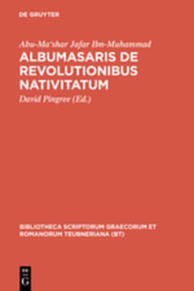 Albumasaris de revolutionibus nativitatum - Coverbild