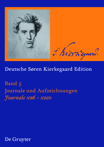 Søren Kierkegaard: Deutsche Søren Kierkegaard Edition (DSKE) / Journale NB6-NB10 - Coverbild