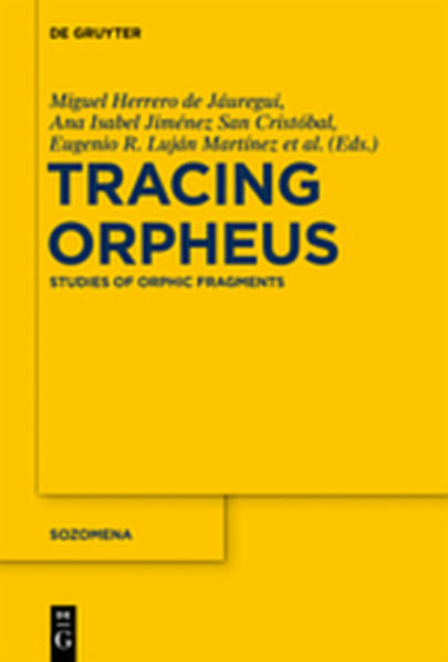 Tracing Orpheus - Coverbild