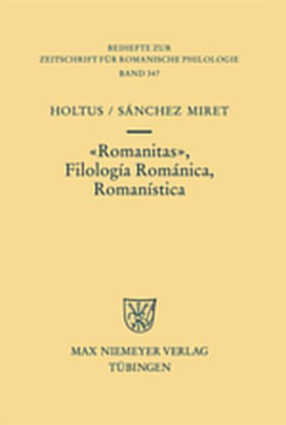 Romanitas - Filología Románica - Romanística - Coverbild