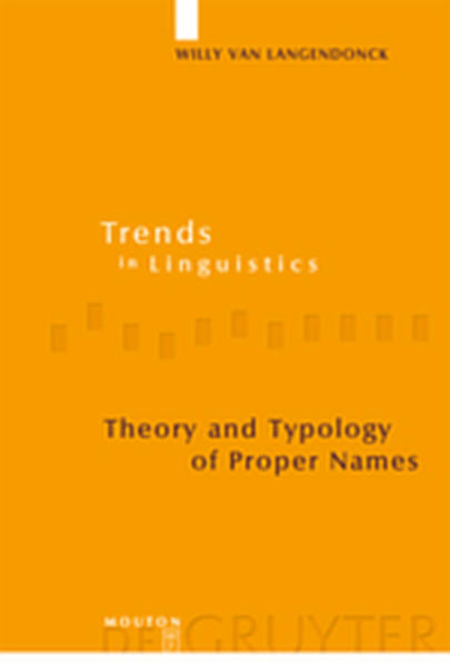Theory and Typology of Proper Names - Coverbild