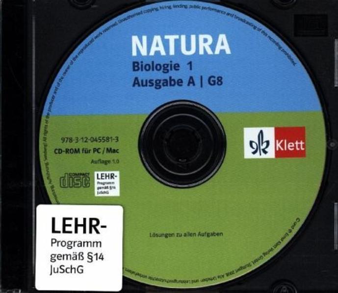 Natura - Allgemeine Ausgabe für G8 / Lösungs-CD 5./6. Schuljahr - Coverbild