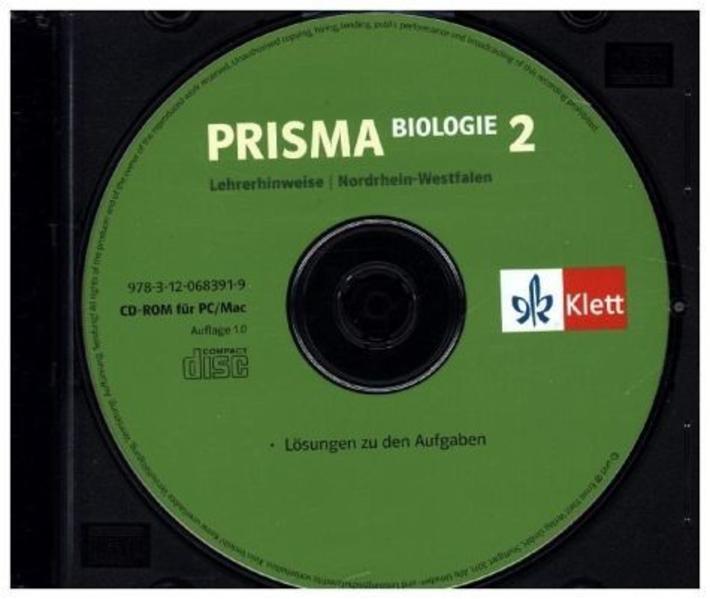 Prisma Biologie - Ausgabe Nordrhein-Westfalen / Lehrerhinweise auf CD-ROM 7./8. Schuljahr - Coverbild