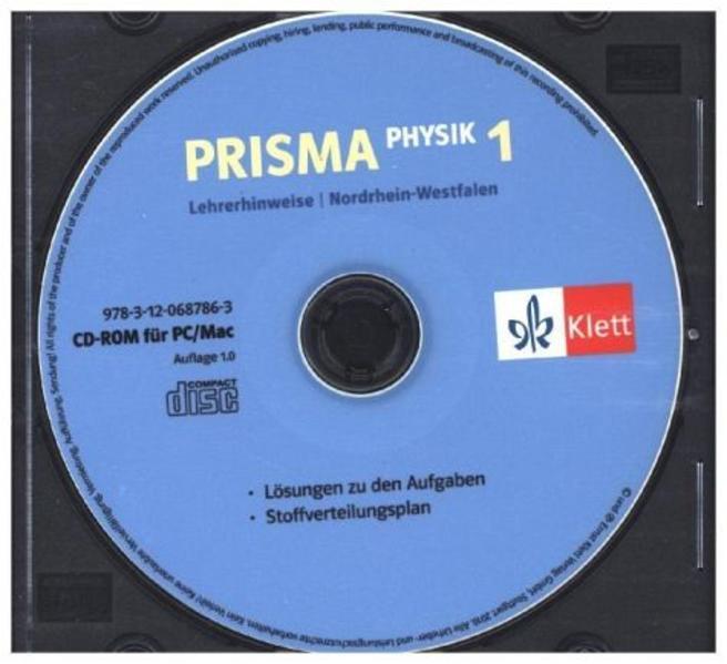 Prisma Physik - Ausgabe für Nordrhein-Westfalen (Neubearbeitung) / Lehrerhinweise auf CD-ROM 5./6. Schuljahr - Coverbild