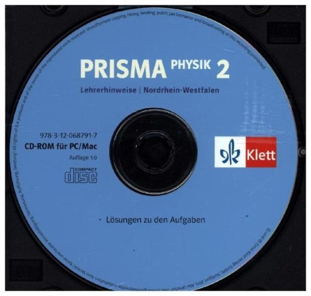Prisma Physik - Ausgabe für Nordrhein-Westfalen (Neubearbeitung) / Lehrerhinweise auf CD-ROM 7./8. Schuljahr - Coverbild