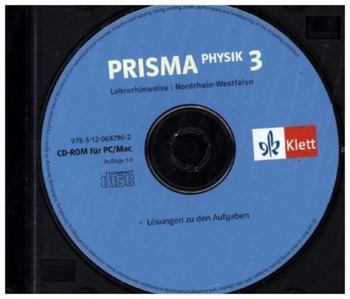 Prisma Physik - Ausgabe für Nordrhein-Westfalen (Neubearbeitung) / Lehrerhinweise auf CD-ROM 9./10. Schuljahr - Coverbild