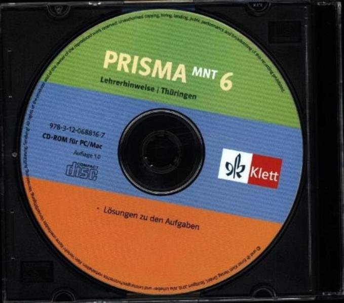 Prisma Mensch - Natur - Technik für Thüringen / Hinweise/Lösungen für Lehrer auf CD-ROM 6. Schuljahr - Coverbild
