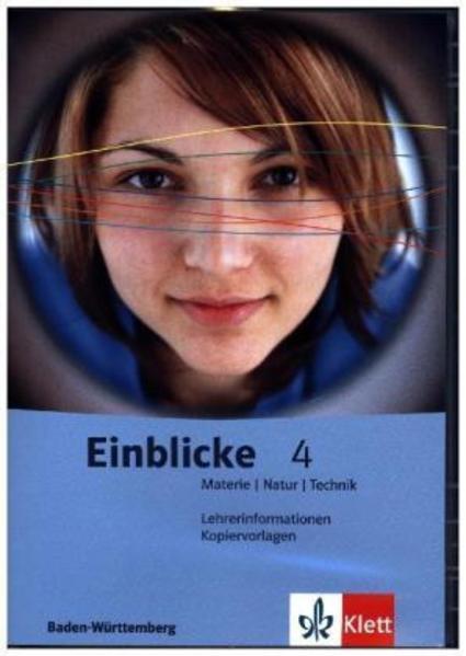 Einblicke Materie-Natur-Technik. Ausgabe für Baden-Württemberg / Lehrerband-CD mit Kopiervorlagen 10. Schuljahr - Coverbild