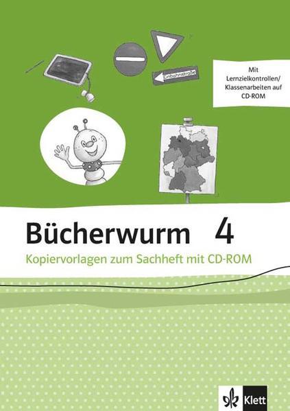 Bücherwurm Sachheft / Kopiervorlagen mit CD-ROM 4. Schuljahr - Coverbild