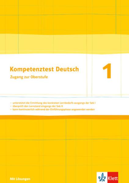 Kompetenztest Deutsch 1. Zugang zur Oberstufe - Coverbild