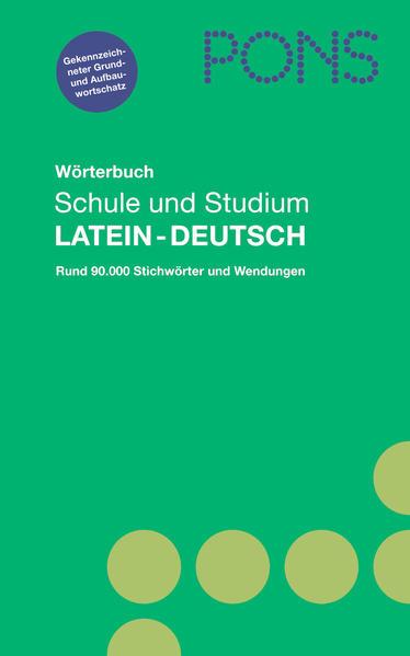 PONS Wörterbuch für Schule und Studium / Lateinisch - Coverbild