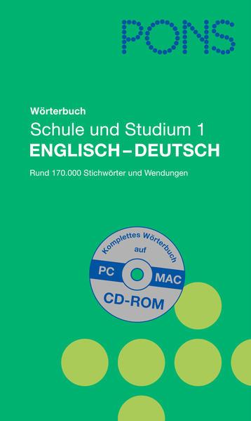 PONS Wörterbuch Schule und Studium 1 - Coverbild