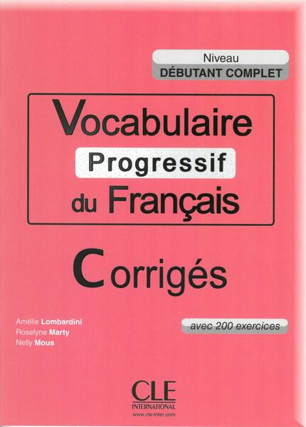 Vocabulaire progressif du français, Niveau débutant complet - Coverbild