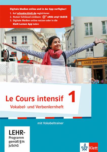 Le Cours intensif / Vokabel- und Verbenlernheft mit virtuellem Vokabeltrainer online - Coverbild