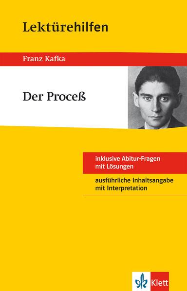 Klett Lektürehilfen - Franz Kafka, Der Proceß - Coverbild