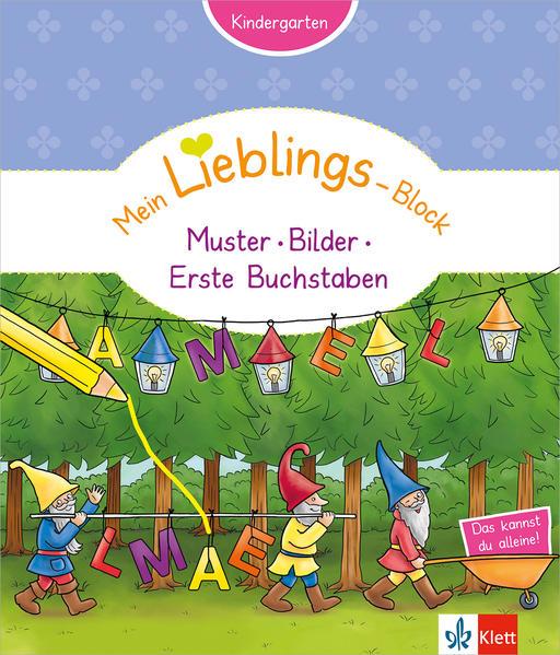 Klett Mein Lieblings-Block Muster, Bilder, erste Buchstaben - Coverbild