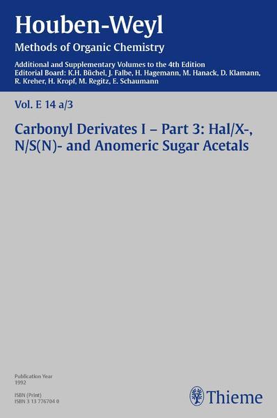 Houben-Weyl Methods of Organic Chemistry Vol. E 14a/3, 4th Edition Supplement - Coverbild