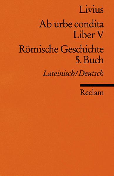 Ab urbe condita. Liber V /Römische Geschichte. 5. Buch - Coverbild