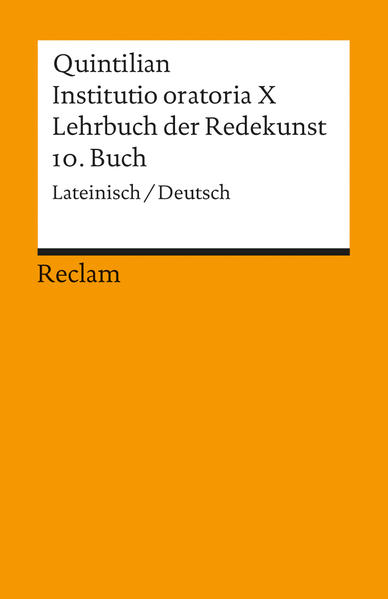 Instituto oratoria X. Lehrbuch der Redekunst - Coverbild